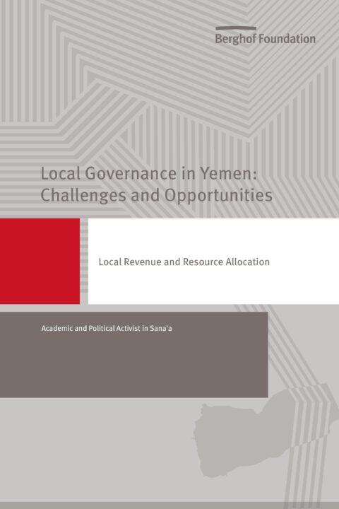 Local Revenue and Resource Allocation