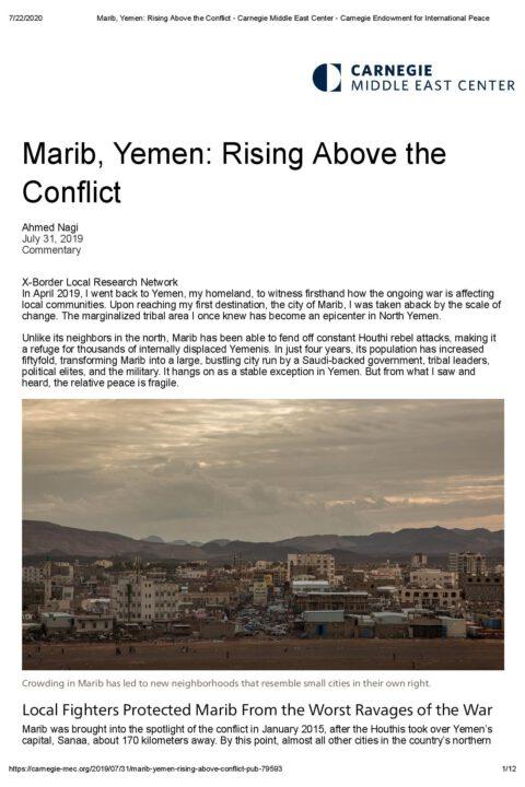 Marib, Yemen: Rising Above the Conflict