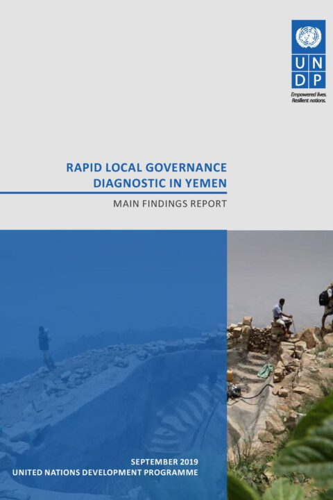 Rapid local governance diagnostic in Yemen