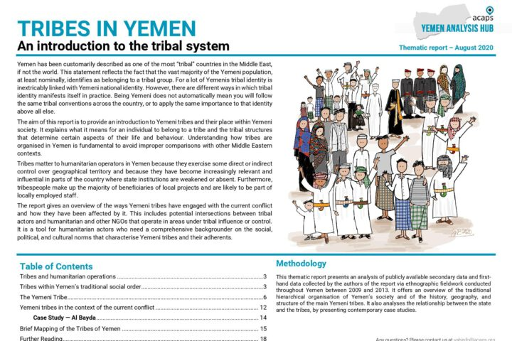 TRIBES IN YEMEN: An introduction to the tribal system